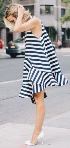 Geo Stripe Little Dress by Caroline Receveur & Co