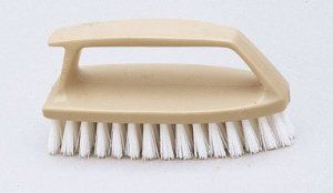 """12 Each: Rubbermaid Scrub Brush/iron Handle (g23712) by Rubbermaid. $25.99. Handle protects knuckles. 1"""" trim, crimped, in plastic block. Sold as one unit. (1 unit = 12 each.) 1"""" trim, crimped, in plastic block. Handle protects knuckles. Pointed end cleans in corners. Manufacturer number: G23712. SKU #: 11603. Country of origin: (TBA). Distributed by Rubbermaid Cleaning Prod."""