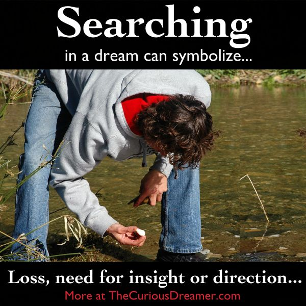 In a dream, searching for something can mean... More dream meaning at TheCuriousDreamer... #dreams #dreammeaning #dreamsymbols