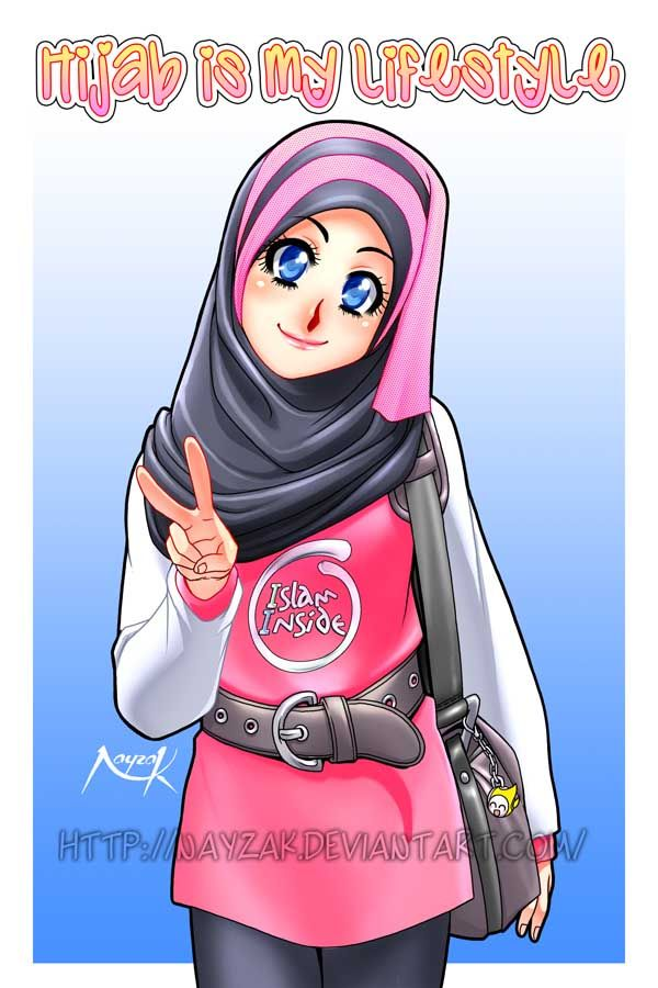 Hijab_Muslimah_anime_drawing