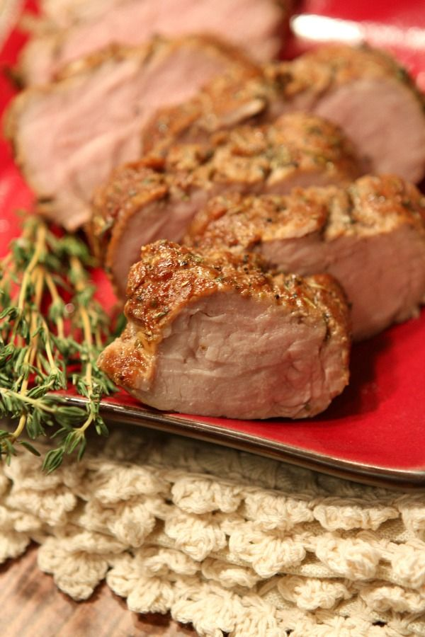 Easy Herb Marinated Pork Tenderloin recipe. Nutritional information and Weight Watcher's points included.