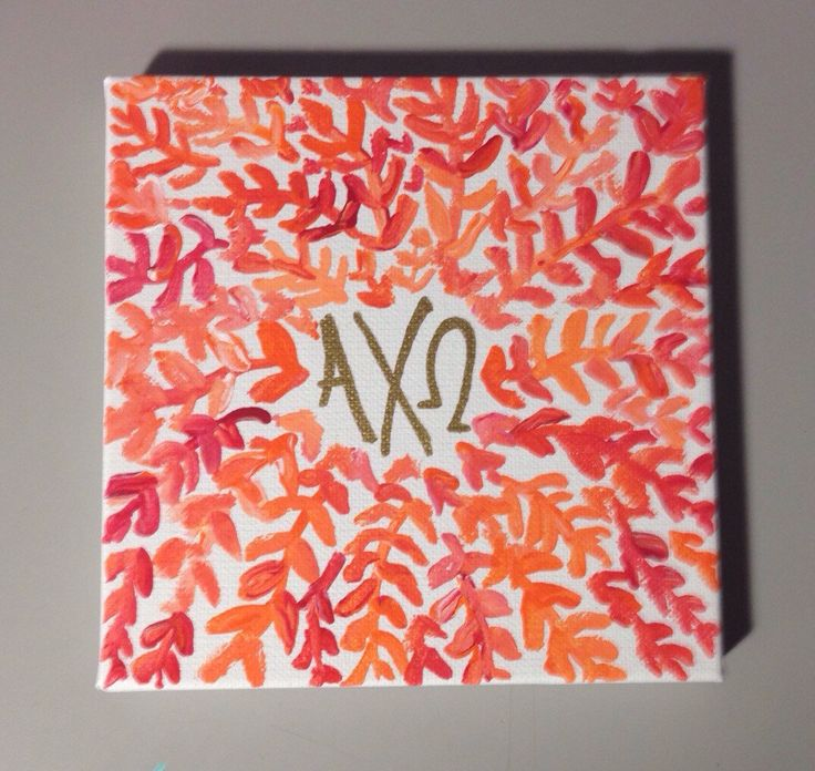 A personal favorite from my Etsy shop https://www.etsy.com/listing/257552424/alpha-chi-omega-leaf-canvas