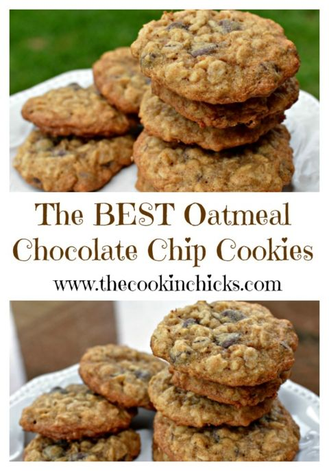 The BEST Oatmeal Chocolate Chip Cookies Recipe Christmas cookies