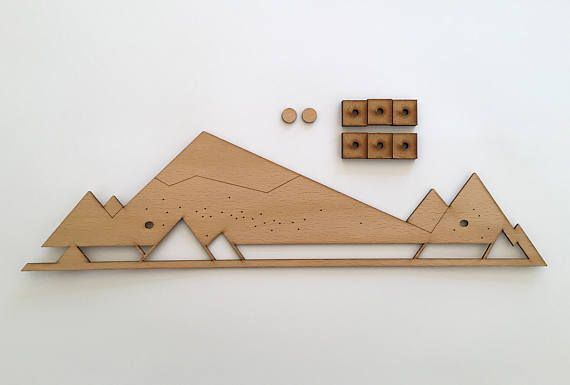 The jewelry organizer Geometric Mountains will be an outstanding display for your jewelry and a beautiful wall decor at the same time. It can be mounted to a wall or cabinet door.  CAPACITY ▸ 22+ pairs of earrings ▸ about 5 necklaces ▸ about 15 studs It all depends on the size of your