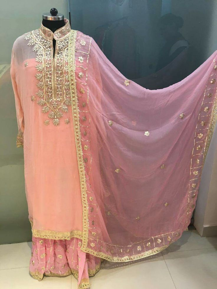 Beautiful georgette pc...customised outfits. Call or whatsapp at 7696150005