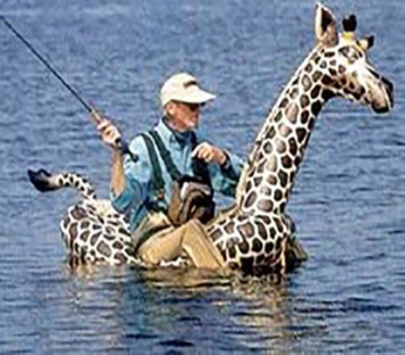 When you don't have a boat.   Funny-Fishing-Pictures-13