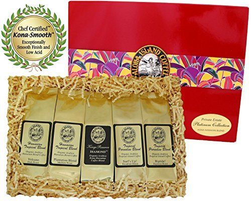 #foodiegifts Kona Hawaiian Platinum Collection Gourmet Coffee Gift, Ground Coffee, Brews 60 Cupsby Aloha Island Coffee - See more at: http://foodiegiftsnow.com/grocery-gourmet-food/gourmet-gifts/kona-hawaiian-platinum-collection-gourmet-coffee-gift-ground-coffee-brews-60-cups-com/#sthash.wRvMoaxb.dpuf
