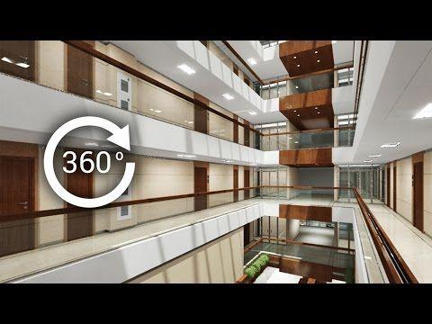 360° - 3D render   Интерьер   Апарт-отель   Атриум. Вид 2 - YouTube