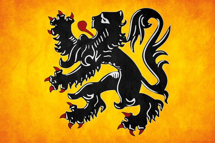"""The flag of Flanders, called the Vlaamse Leeuw (""""Flemish Lion"""") or leeuwenvlag (""""Lion flag""""), is the flag of the Flemish Community and Flemish Region. The flag was officially adopted by the Raad voor de Nederlandse Cultuurgemeenschap (""""Council for the Dutch cultural community"""") in 1973, and later, in 1985, by its successor, the Flemish Parliament. In 1990, also the coat of arms was adopted as an official symbol."""