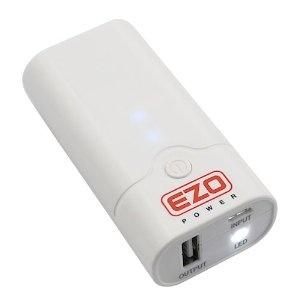EZOPower 5200mAh Pocket Size External Battery Pack High Capacity Power Bank Charger 1A output with LED Flashlight for Apple iPhone 4 4s 3Gs 3G, iPod Touch / Amazon Kindle / Samsung Galaxy S3 S S2 S II, Advance, Galaxy Nexus, Epic 4G / Blackberry Torch Bold Curve / HTC Sensation 4G, XE, XL, One X, Thunderbolt, EVO Shift 3D, Inspire / LG Optimus V 2X 3D t / Motorola Droid Razr X 3 2 Bionic, Atrix 2, Triumph / Nokia Lumia 900 800 - (White)