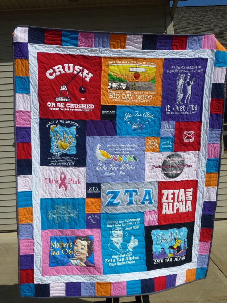 24 best Greek Quilts images on Pinterest   Craft, Diy artwork and ... : too cool tshirt quilt - Adamdwight.com