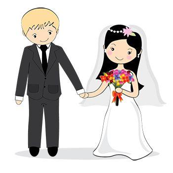 Ilustração de noivinhos para lembranças de casamento                                                                                           Mais
