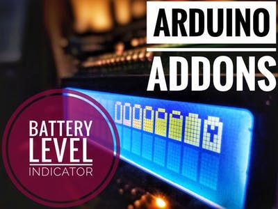Arduino Addons : Battery Level Indicator