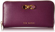 Ted Baker Freesia Bow Zip Around Wallet, Grape, One Size