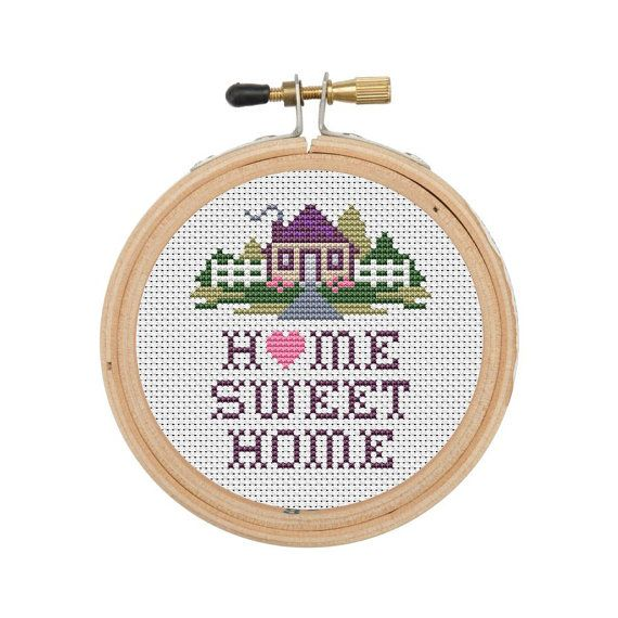 Home Sweet Home Easy Counted Cross Stitch by InstantCrossStitch