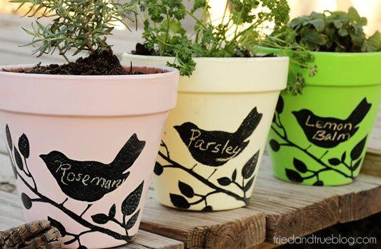 diy garden decor   DIY Garden Decor / Make Sweet pots for your porch tutorial and 45 BEST ...