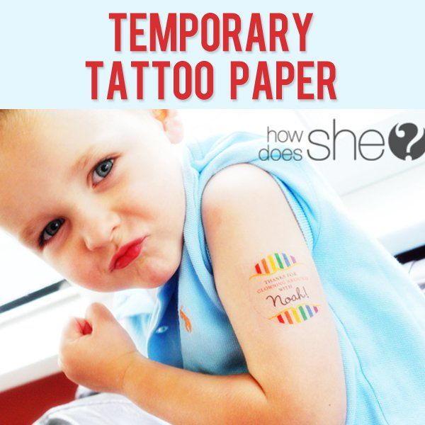 temp tattoo paper Designing and printing your own temporary tattoos at home is super easy you don't need a special printer to make them either all you need is a regular inkjet printer and a pack of temporary tattoo paper that is easily found at most craft stores as well as wal-mart items required: 1 pack of silhouette.