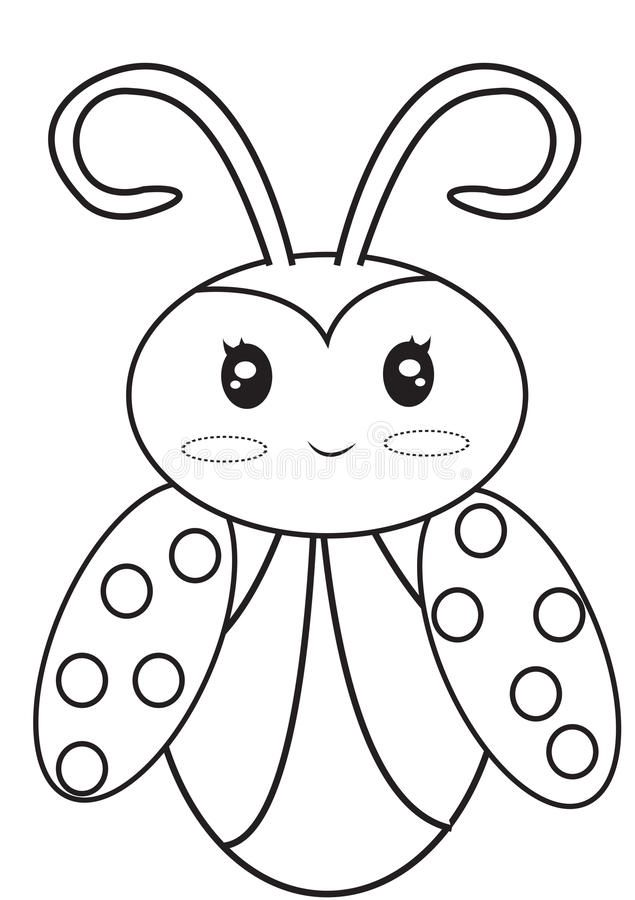 Ladybug Coloring Page Useful As Coloring Book For Kids