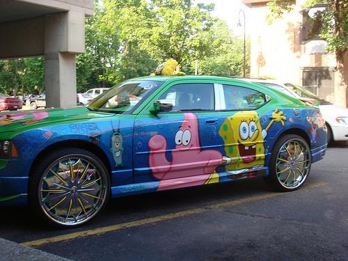 my dream ride: Things Spongebob, Paintings Job, Custom Cars, Custom Paintings, Awesome Cars, Donk, Spongebob Cars, Dreams Cars, Cars Trucks