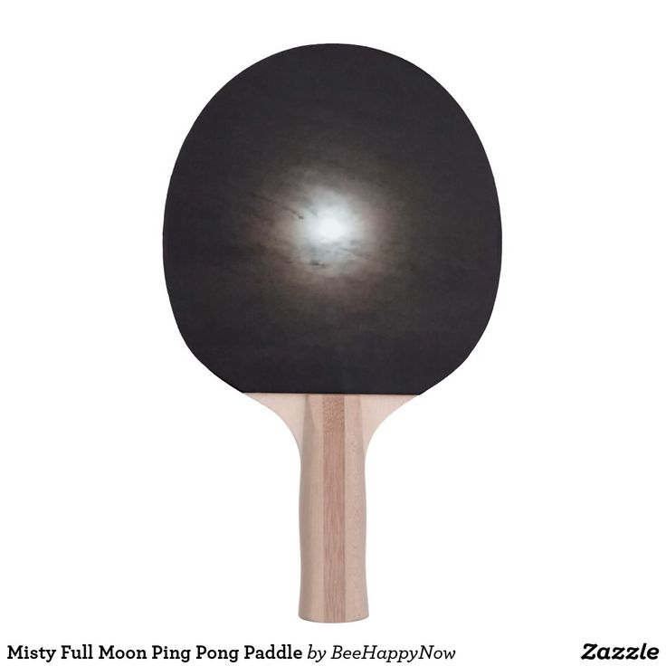 Misty Full Moon Ping Pong Paddle