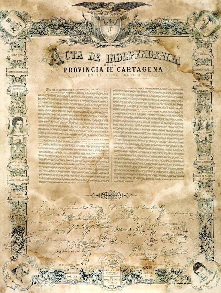 Acta de Independencia de #CartagenadeIndias