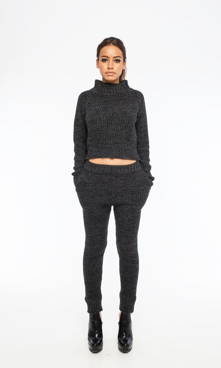 Sara Bailes - Charcoal Knit Tracksuit