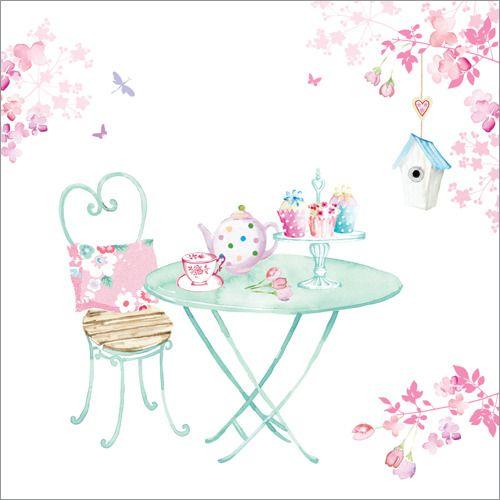 Tea in the Garden Greeting Card WS227 - Buy Online $3.60