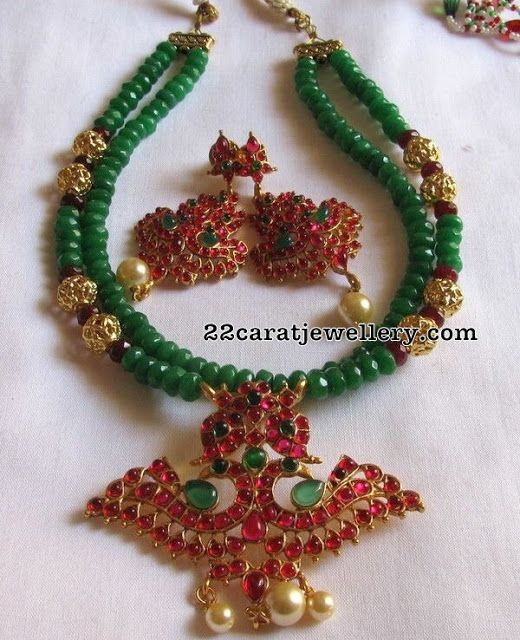 Multi Layers Emerald Beads Set