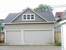 Custom 28x20 reverse gable garage with gable dormers for Reverse gable garage