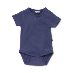 Infant bodysuit in Plum Purple. Natural basic for baby & toddler http://silkylabel.nl/romper-korte-mouw.html