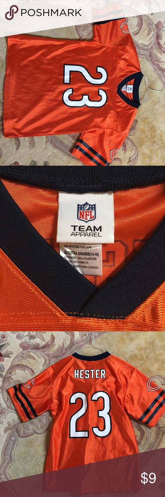 Chicago Bears jersey Boys like new Chicago Bears Hester jersey nfl Shirts & Tops Tees - Short Sleeve
