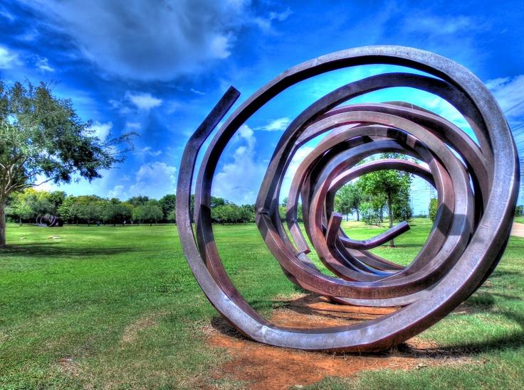 Spiral 1 Iron Art-work - Oyster Creek park, Sugar Land, Texas