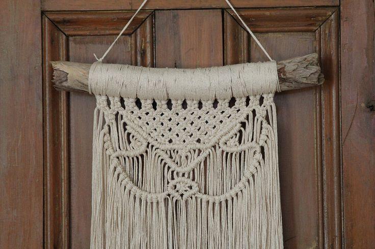 Macrame Wall Hanging. Driftwood. Cotton Rope. Boho by fallandFOUND