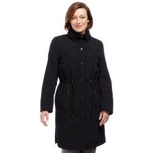Mid Length Black Raincoat