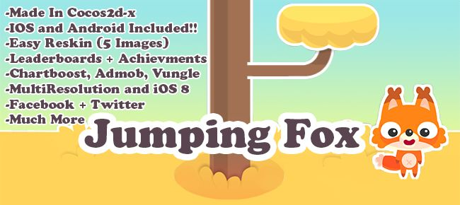 Jumping Fox | App Code for Sale | Hero