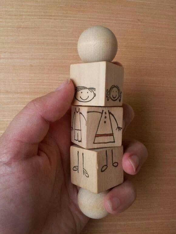 Creatief met oude houten speelblokken