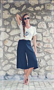 Black Jupe Culotte-Tshirt-Braid Casual Style <3 ~Summer Style~ Badila Fashion Spring-Summer '15