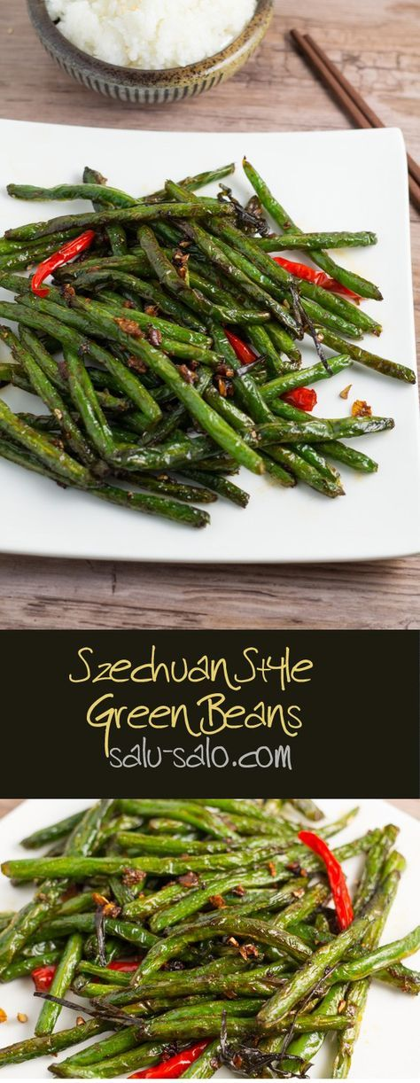 This Szechuan Style Green Beans recipe is easy to make. The green beans were delicious and crunchy, with a little bit of kick to it.