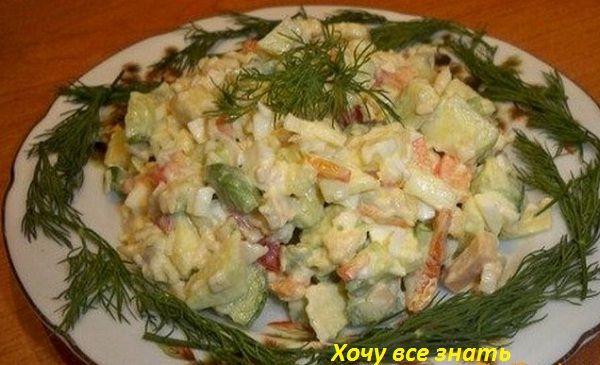 Вкуснейший салат с авокадо