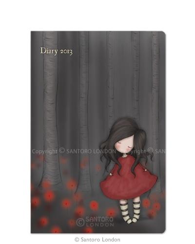 Gorjuss Poppy Wood Pocket Diary 2013