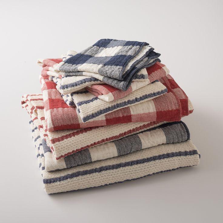 Plaid Towels | Striped Towels | Bath | Schoolhouse Electric