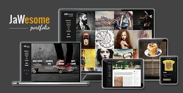 JaWesome - portfolio #WordPress theme.  http://themeforest.net/item/jawesome-creative-wordpress-portfolio-theme/8981815?ref=jawtemplates