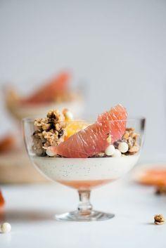 Citrus & Coconut Panna Cotta with Coconut Cashew Granola | Now, Forager | //Teresa Floyd