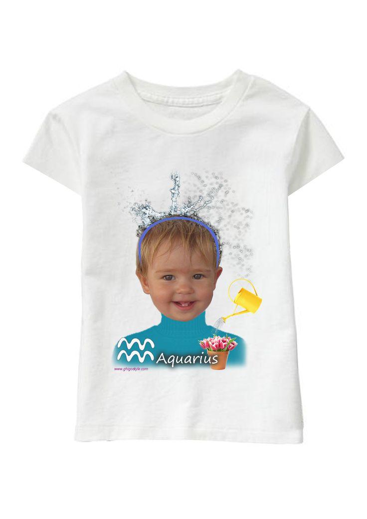 Aquarius Girl personalized T-shirt www.ghigostyle.com