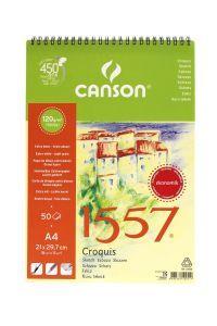 Canson 1557 Çok Amaçlı Defter 120 gr. 50 Yaprak A4