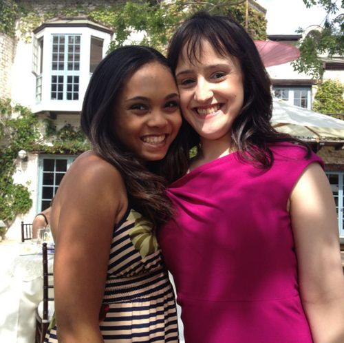 Now: Mara Wilson and Kiami Davael (Lavender and Matilda) from the movie, #Matilda.