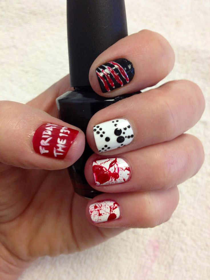 Friday the 13th Nail Art www.nailsmag.com