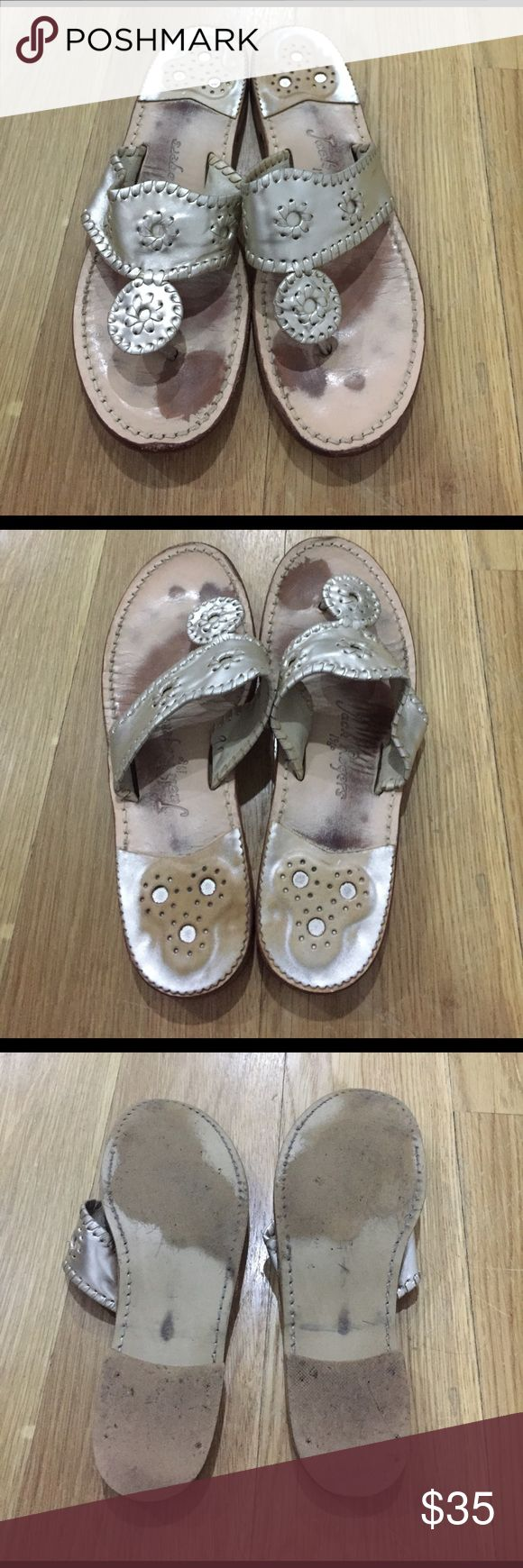 Jack Rogers Sandals - Size 9 Pre loved jack Rogers Sandals in platinum Jack Rogers Shoes Sandals