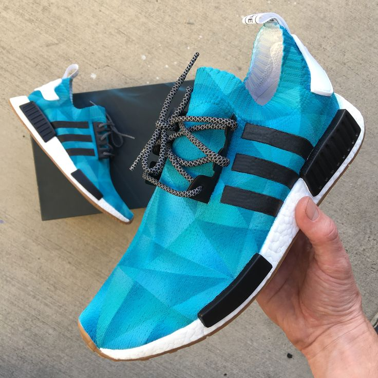 Custom Painted Monochromatic Adidas NMD Sneakers