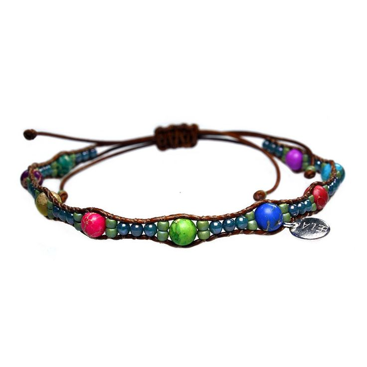 Anklets for women Classic - Regalite and Czech glass